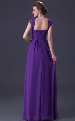 c813fbec1bc společenské šaty šifonové na ramínka fialové - plesové šaty ...